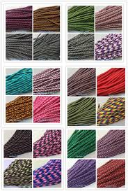 Us 4 9 Free Buckles New 172 Colors Paracord 550 Paracord Polyester Parachute Cord Lanyard Rope 7 Strand 100 Ft Per Color Per Bundle In Paracord From