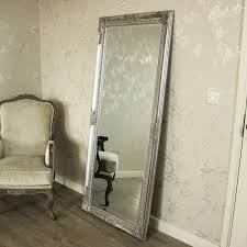 silver floor mirror. Ornate Silver Floor Mirror N