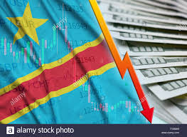 Democratic Republic Of The Congo Flag And Chart Falling Us