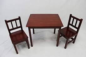 ehemco kids table and 2 chairs set solid hard wood cherry