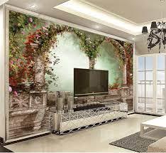 3d Duvar Kağıdı Duvar Resimleri güzel çiçekler kemer 3d çiçekli duvar kağıdı  HD nem geçirmez güzel duvar kağıdı|Wallpapers