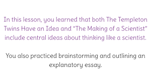 lesson outlining an explanatory essay for the extension task view resource copy resource id