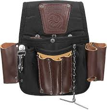 occidental leather 1555 electrician s pouch in black nylon and leather