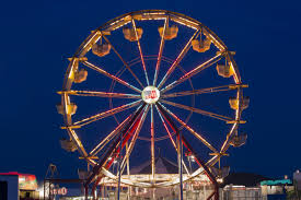 how does a ferris wheel power its lights if it s always spinning given this kind of ferris wheel