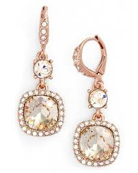 givenchy legacy drop earrings in pink lyst