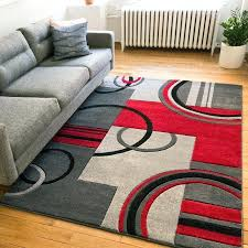 red living room rug ruby modern galaxy waves grey red area rug red persian rug living room