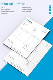 invoice template 42 word excel pdf psd format beautiful hospital invoice template