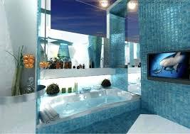blue bathroom colors white ceramic corner bathtub brown one when were bathtubs popular full size