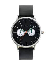 leather strap watch black watches jewellery ted baker uk
