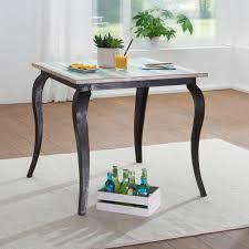 Finebuy Esstisch Pintu Massivholz Shabby Chic 80x77x80 Cm Esszimmertisch Modern Design Küchentisch Massiv Klein Massivholztisch Esszimmer