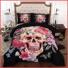 medium size of bedding cilected 3d skull bedding sets flower 3pcs bedclothes black sugar skul duvet