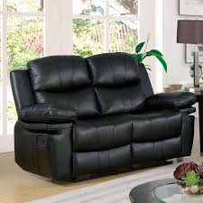 traditional black bonded leather upholstery loveseat listowel foa group reviews cm6992bk lv
