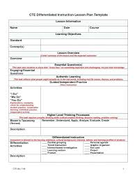 Differentiated Instruction Lesson Plan Template Ways To Differentiate Flexible Grouping Lesson Plan Template