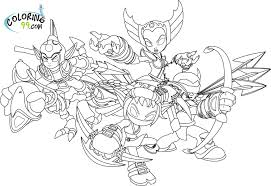 Skylanders Elves Coloring Pages Minister Coloring