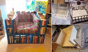 It is a bookshelf chair, that can be built at home with a bit of skills and  patience. Such a great chair can be very ...