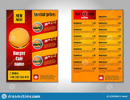 Flyer Design Food Fast Food Flyer Design Vector Template In A4 Size Brochure And