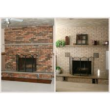 brick painting ideasFireplace Paint Kit  Lighten Briighten Old Brick Fireplaces