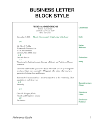 Business Letter Modified Block Style Format Cover For You Business