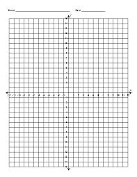 Coordinate Plane Audacious Blank Unique Math Graph Paper Line