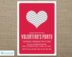 valentines party invitations valentines party invitation valentines day heart by ellisonreed