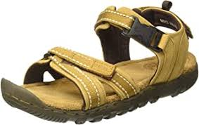 Redchief <b>Men's</b> Glossy Tan <b>Leather Sandals</b> and Floaters