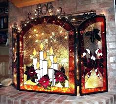stained glass fireplace ed stained glass fire screen uk
