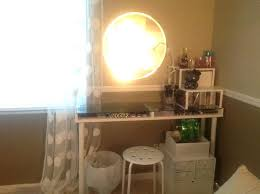 vanity table with led lights furniture round wall mirror with led lighting feat small glass top vanity table with led