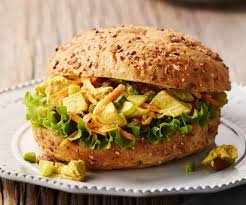 chicken salad sandwich on roll. Interesting Roll Add Items To My Grocery List Recipes  Chicken Bombay Salad In WholeGrain  Rolls For Sandwich On Roll H