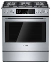 gas range. Cooking Products - Bosch 800 Series 4.8 Cu. Ft. Slide-In Gas Range R