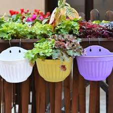 home resin garden hanging planters pot