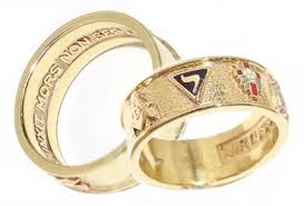 york rite rings. a masonic ring which includes the 14th degree emblem york rite rings