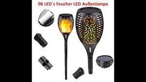 Fackel Lampe Feuerlampe Brennende Lampe <b>96 LED Solar</b> ...