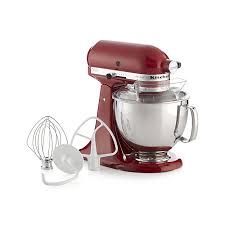kitchenaid ksm150pser artisan empire red stand mix reviews crate and barrel