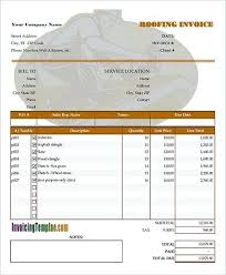 Roofing Invoice Blank Roof Invoice How To Plan Roofing Invoice Templates If You