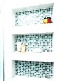 built in bathroom shelves bathtub shower wall shelf