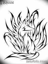 черно белый эскиз тату с лисой 09032019 020 Tattoo Sketch