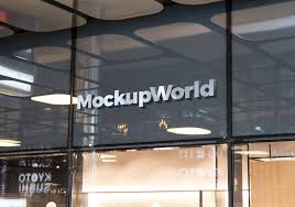 facade logo mockup