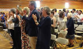 Image result for standing ovation in a classroom