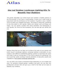 Cheap Landscape Lighting Kits Use Led Outdoor Landscape Lighting Kits To Beautify Your