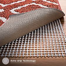 non slip rug pad for hard floors extra strong grip thick padding 5x7 feet