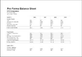 Pro Forma Cash Flow Projections Pro Forma Cash Flow Template
