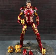 2019 <b>New Hot TheAvengers</b> IronMan Action Figure Model 20cm ...