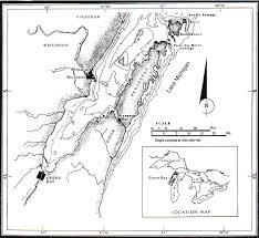 Map Of Green Bay Lake Michigan Usa Showing The Five