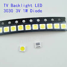 TV Backlight <b>LED</b> Diode <b>SMD 3030</b> 3V 1W <b>Cool</b> White <b>LED</b> 10PCS ...