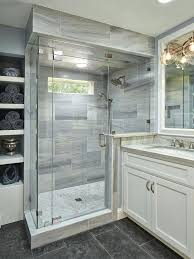 shower tile ideas walk in that will inspire you home contemporary gray light grey y70 tile