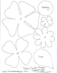 Free Paper Flower Templates Printable Large Flower Template Printable Large Flower Petals Large Paper