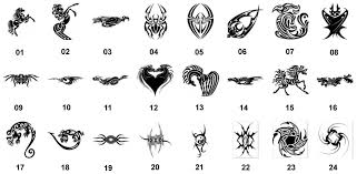 Vyřezávací šablony Pro Nažehlovací Obrázky Tetování