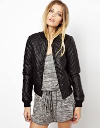 Noisy May Faux Leather Quilted Bomber Jacket | My Style ... & Noisy May Faux Leather Quilted Bomber Jacket Adamdwight.com