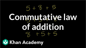 Properties Of Operations Chart Commutative Law Of Addition Video Khan Academy