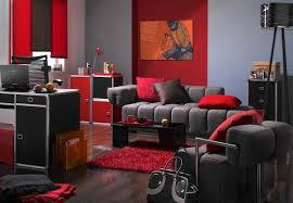 red and white living room design ideas